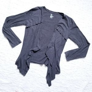 Gap YS Open Cardi Cardigan Charcoal Heather